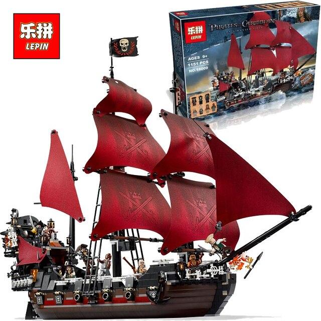 Nueva LEPIN 16009 1151 Unids Piratas Del Caribe de la Reina Anne Reveage Kits de Edificio Modelo Bloques de Ladrillo Juguetes de Regalo 4195