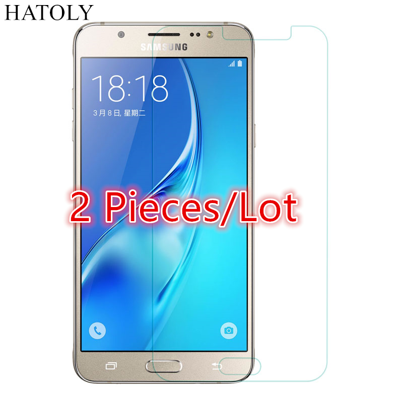 SFor Glass Samsung Galaxy J7 2016 Tempered Glass For Samsung Galaxy J7 2016 Screen Protector For Samsung J7 2016 Glass HATOLY ^
