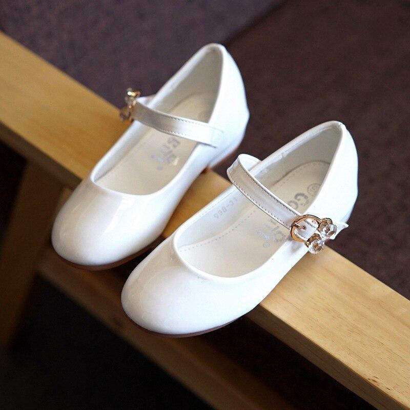 Girls Shoes Princess Kids Children White Black Party Autumn Baby New-Fashion