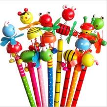 48 pçs/lote Alunos do Ensino Crianças Prêmio HB Lápis De Madeira Dos Desenhos Animados Animal do Aniversário do Natal Presente Da Promoção
