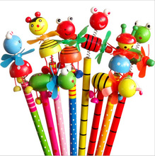 48pcs/lot School Students Prize Children Cartoon Animal HB Wooden Pencil Christmas Birthday Promotion Gift