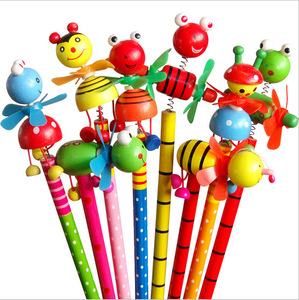 Image 1 - 48pcs/lot School Students Prize Children Cartoon Animal HB Wooden Pencil Christmas Birthday Promotion Gift
