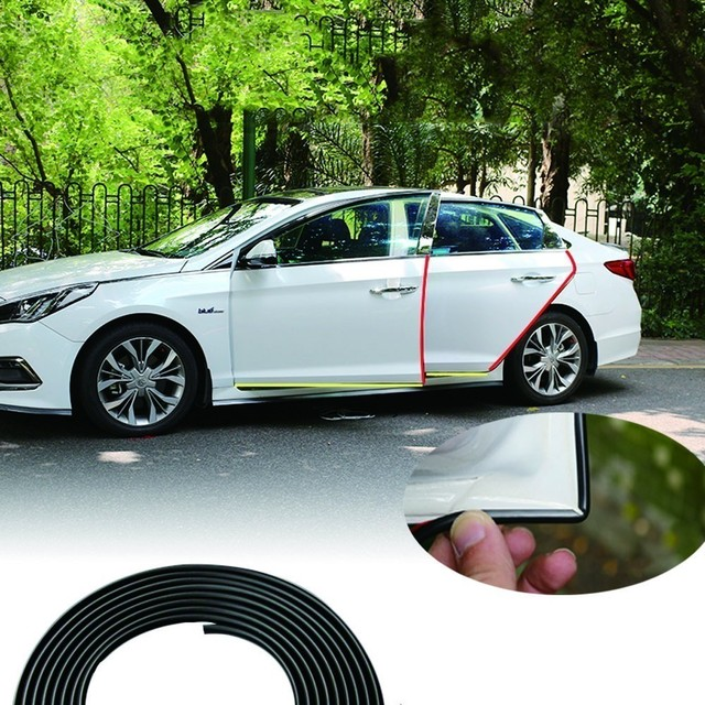Car Door Protection Side Protector Stricker Door Strip Moulding Stylingstrip Protector Rubber Sealing For Car Auto