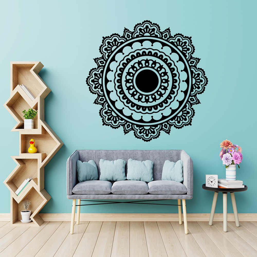 Exquisite Mandala Buddhism India Wall Sticker For Living Room Namaste Removable Vinyl stickers Mural House Decoration Wallpaper