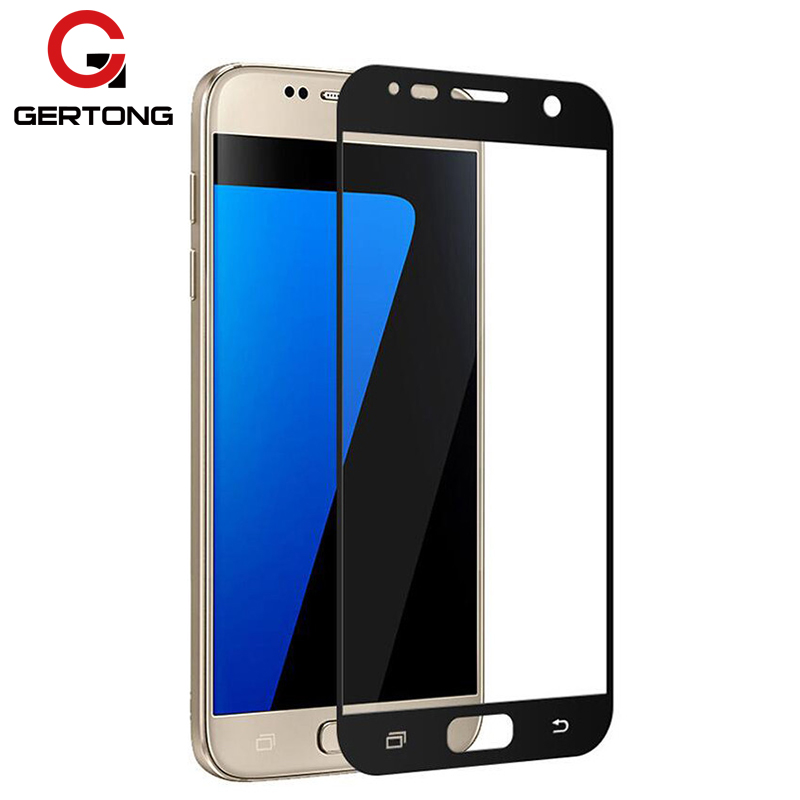 GerTong <font><b>Full</b></font> <font><b>Cover</b></font> Tempered <font><b>Glass</b></font> For <font><b>Samsung</b></font> <font><b>Galaxy</b></font> <font><b>A5</b></font> A3 A7 <font><b>2016</b></font> S7 S6 J5 J7 J2 Prime A3 <font><b>A5</b></font> A7 2017 Note 5 Screen Protector image