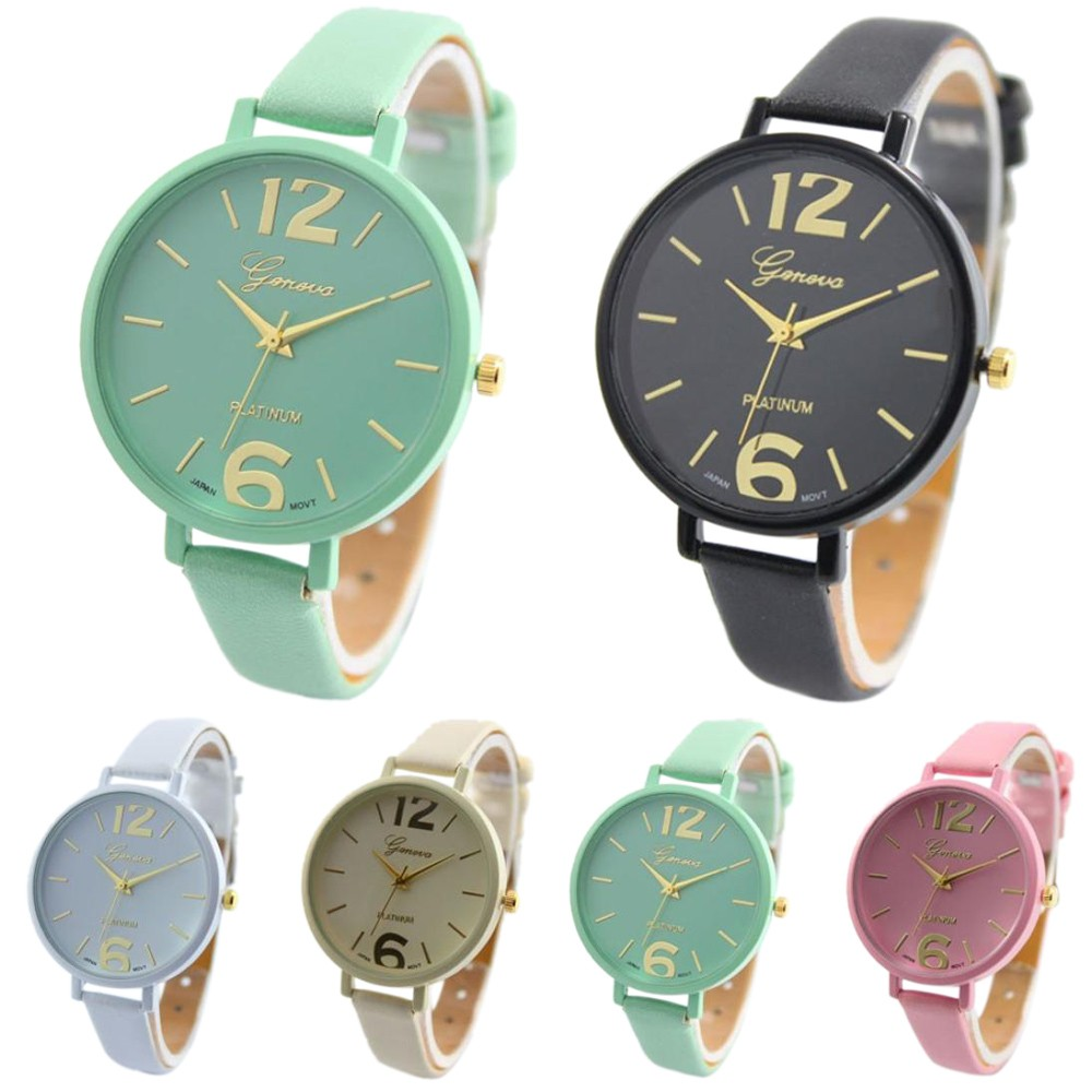 Relogio Feminino Geneva Women Watch Fashion Gold Numerals Dial Analog Quartz Watches Men Clock Lady Leather Wrist Watch Reloj #N geneva watches women fashion diamond dial quartz wrist watch womens pu leather analog cheap watch men clock relogio reloj zer