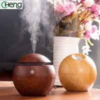 Mini Portable Mist Maker Aroma Essential Oil Diffuser Ultrasonic Aroma Humidifier Light Wooden USB Diffuser For