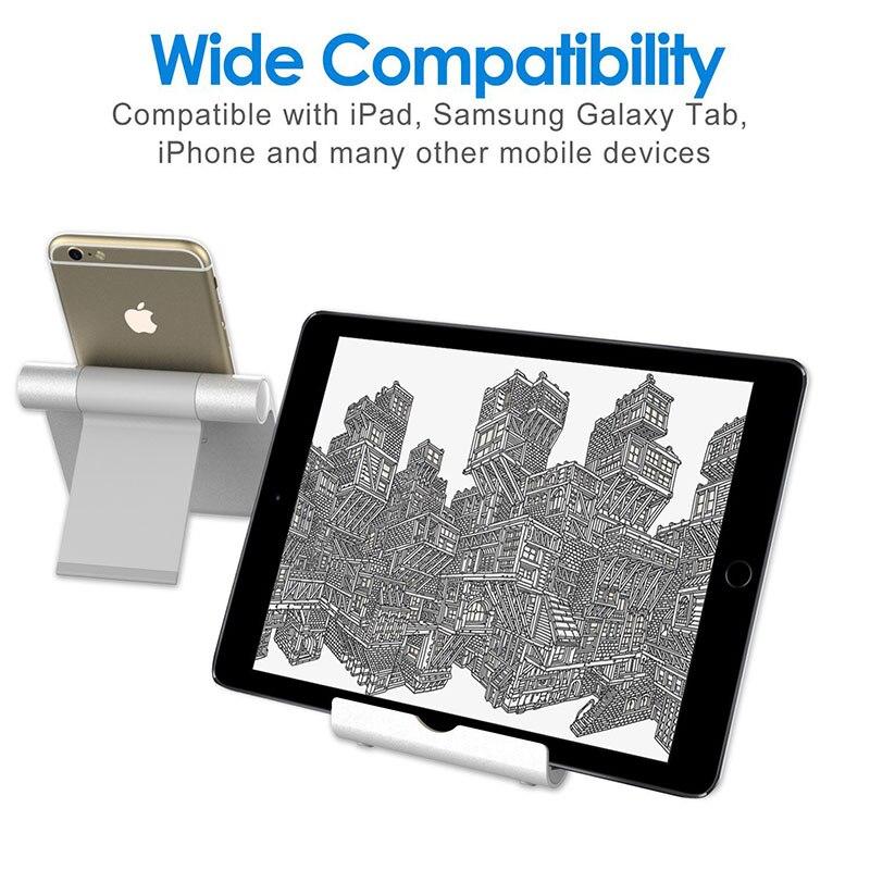 Portefeuille Stand for Tablet Smartphone Multi-Angle Portable Aluminum Holder For iPad 2018 Pro 12.9 Xiaomi mi pad 4 plus Porta (3)