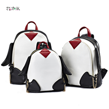 Рюкзаки для девочек-подростков Повседневная модная Дорожная сумка из искусственной кожи Школьные сумки Mochila Feminina мультфильм милый Пингвин рюкзак A1