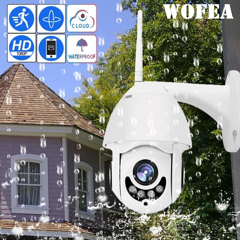 Câmera WI-FI Ao Ar Livre Câmera PTZ IP H.265 + 1080p Speed Dome Câmeras de Segurança CCTV Câmera IP WIFI Exterior 2MP IR Início Vigilância