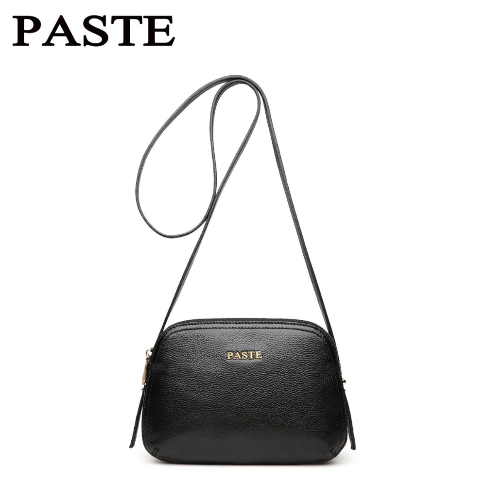 PASTE Women Brand Shoulder Bags Small Crossbody Bag Genuine Leather Messenger Bag Fashion Shell Bag 2017 fashion all match retro split leather women bag top grade small shoulder bags multilayer mini chain women messenger bags