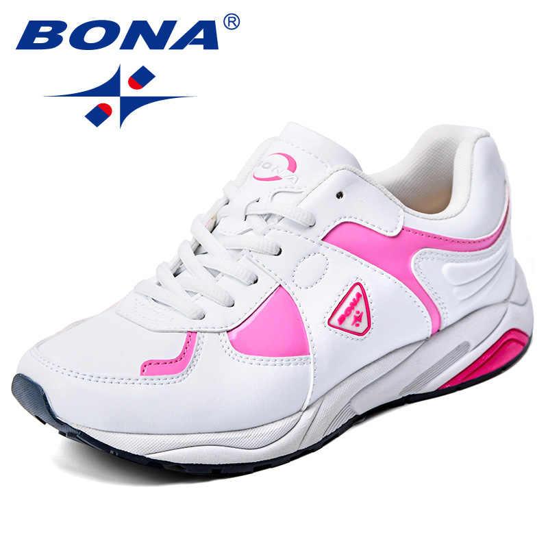 94998205 BONA/новая популярная стильная женская обувь для бега из синтетического  материала на шнуровке, женская
