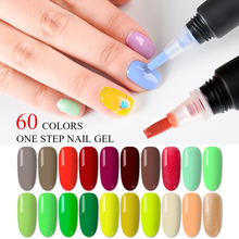 T-TIAO CLUB 60 Colors Nail Polish Pen 3 In 1 Gel Varnish Glitter One Step Easy To Use UV