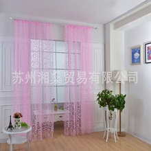 Home textiles European large hooks flocking curtains screens Cheap wholesale discounts Customized processing