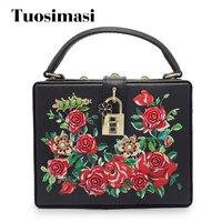 Flower Pattern Women Evening Bags Designer Clutch Floral Print Handbags Luxury PU Tote Box Women Famous