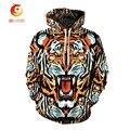 Impressão Digital 3D Leão/Camisolas Tigre Padrão Animal Engraçado Camisola Homens Pullovers Do Hoodie Das Mulheres Tops Treino Unisex