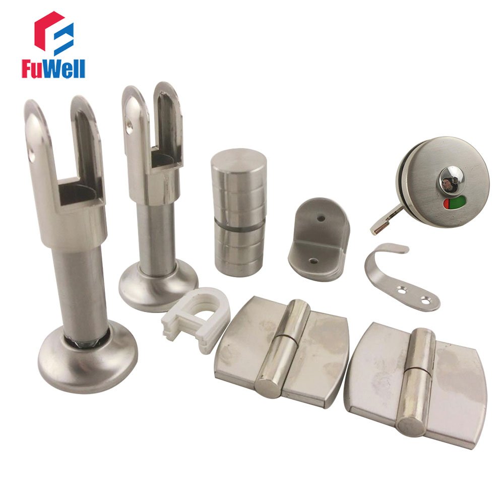 Stainless Steel Public Toilet Accessories Set for WC Partition