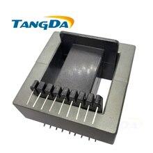 Tangda EE85B Marco de transformador de bobina del transformador + núcleo de ferrita PC40 núcleo magnético blando DIP EE 85B 18pin 18p 9 + 9 vertical AG