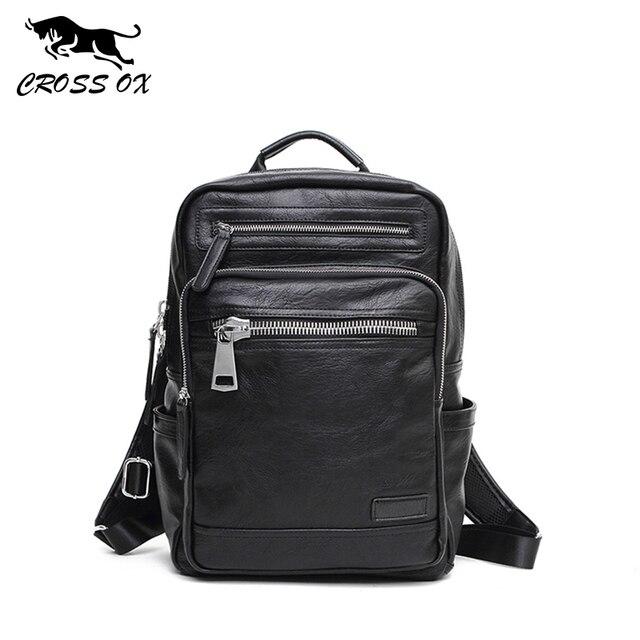 CROSS OX Портфель из искуственной кожи для мужчин Рюкзак для подростков BK030