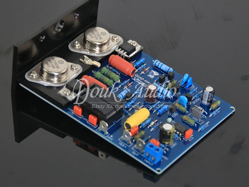 Nobsound Assembled QUAD405 2.0 channel amplifier board with aluminum angle MJ15024 2pcs assembled quad405 clone power amplifier finished board with mj15024 angle aluminum 2 channel