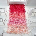 Lincaier 500 Piece Silk Rose Petals Fake Artificial Flowers Wedding Car Decoration Decorative For Wreaths Garland Red Blue Pink