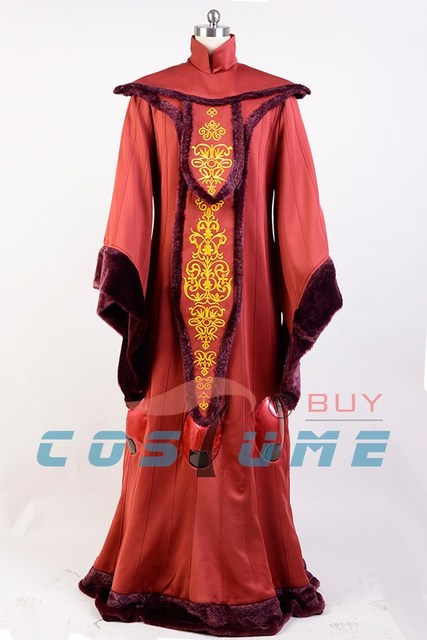 Star Wars Costume Star Wars Phantom Menace Queen Padme Amidala COSplay Costume Outfit Adult Halloween Costume Customized 2