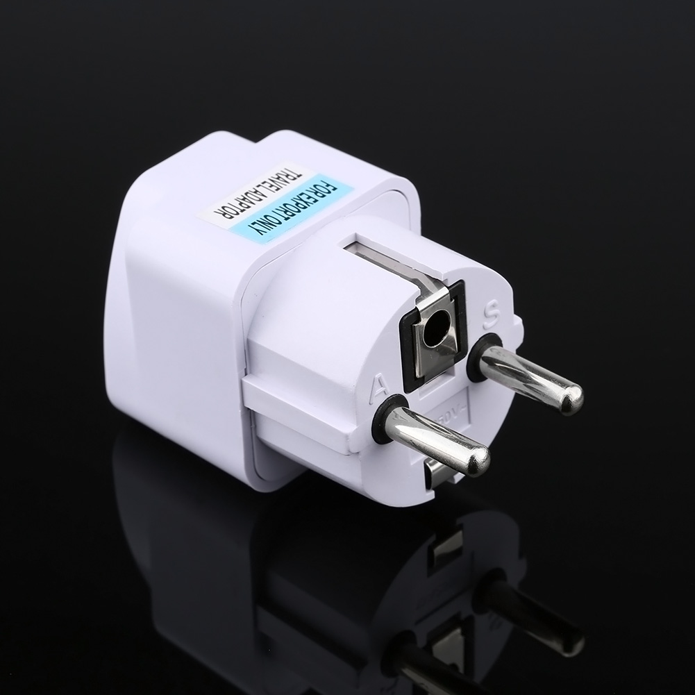 Universal US UK AU To EU Plug USA To Euro Europe Travel Wall AC Power Charger Outlet Adapter Converter XXM