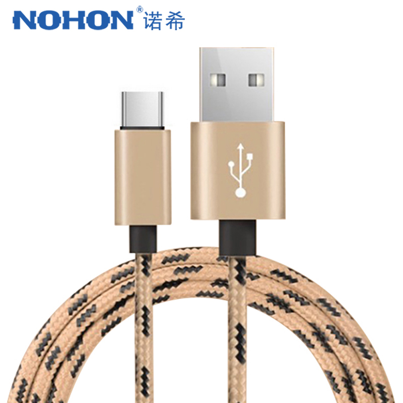 NOHON <font><b>USB</b></font> Type C Charging <font><b>Cable</b></font> For <font><b>Samsung</b></font> <font><b>S8</b></font> S9 Fast Charge Data Cord For Huawei P10 P20 Pro Xiaomi Mi8 6 Phone Charger <font><b>Cables</b></font> image