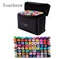 Маркеры 80 цветов набор маркеров двойная головка двойные маркеры touchnew для рисования спирт эскизная ручка для манги аниме n школы офиса
