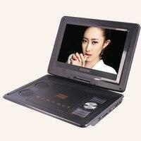13.8 pouce Numérique Multimédia Portable EVD/DVD Vidéo machine, Lecteur de carte USB Ports, analogique TV/Jeu/270 Degrés Pivotant LCD Écran