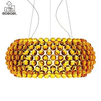 BDBQBL Moderne Glas Anhänger Licht RS7 Birne Klar/Gold Hängen Lampe für Schlafzimmer Esszimmer Parlor Dia 35/ 50/65 cm Hause Hanglamp