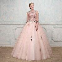 Long Ball Dresses 2019 Spring Appliques Quinceanera Dresses Vestidos De 15 Sixteen Sweet Debutante Gowns Robe De Bal Puffy Dress
