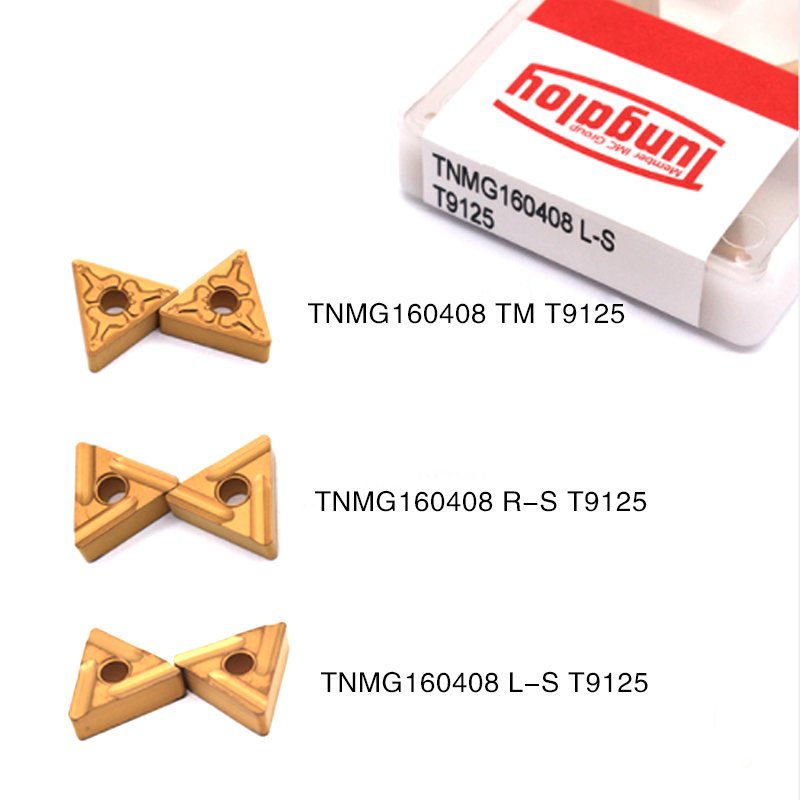 10PCS TNMG160408 TM R S T9125 High Quality Carbide Outer External Turning Tool TNMG 160408 CNC Lathe Tool Free Shipping