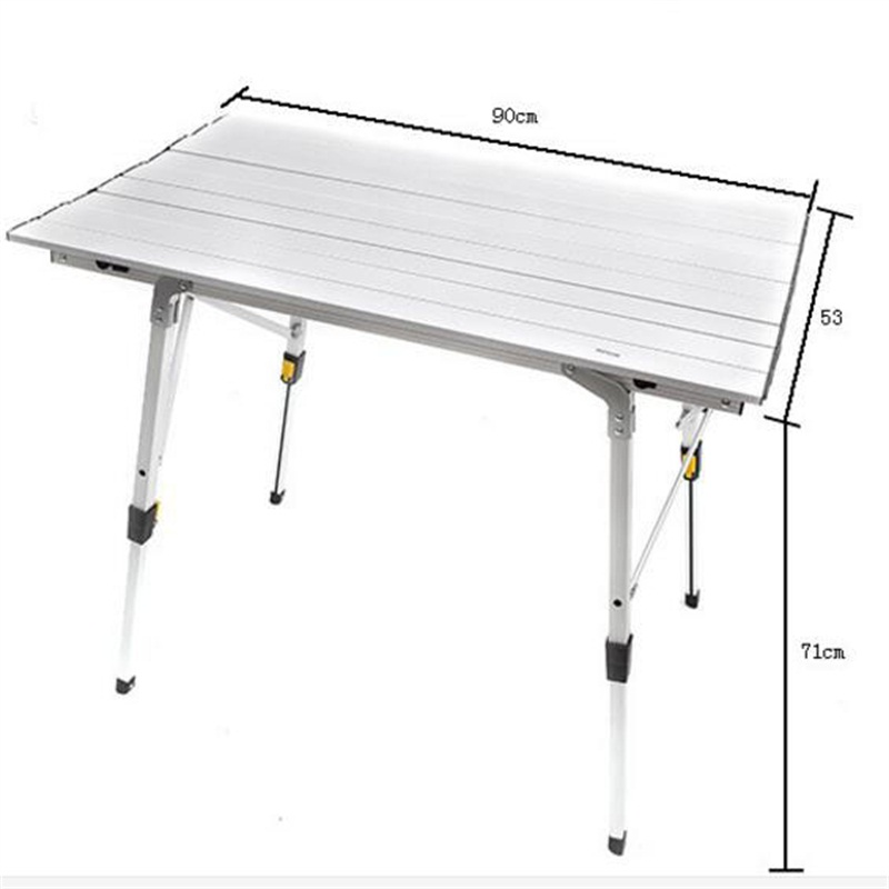 Table pliante en alliage d'aluminium 90*53*71 CM Table de Camping extérieure Portable Table de Barbecue ultra-légère bureau de pique-nique publicitaire