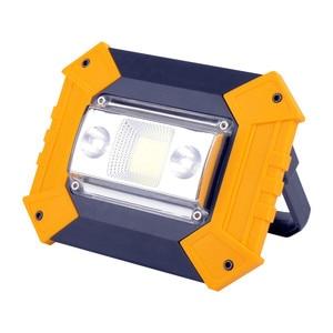 Image 1 - Led 홍수 빛 10 w worklight led cob 칩 투광 조명 스포트 라이트 야외 검색 조명 usb 충전식 경고등