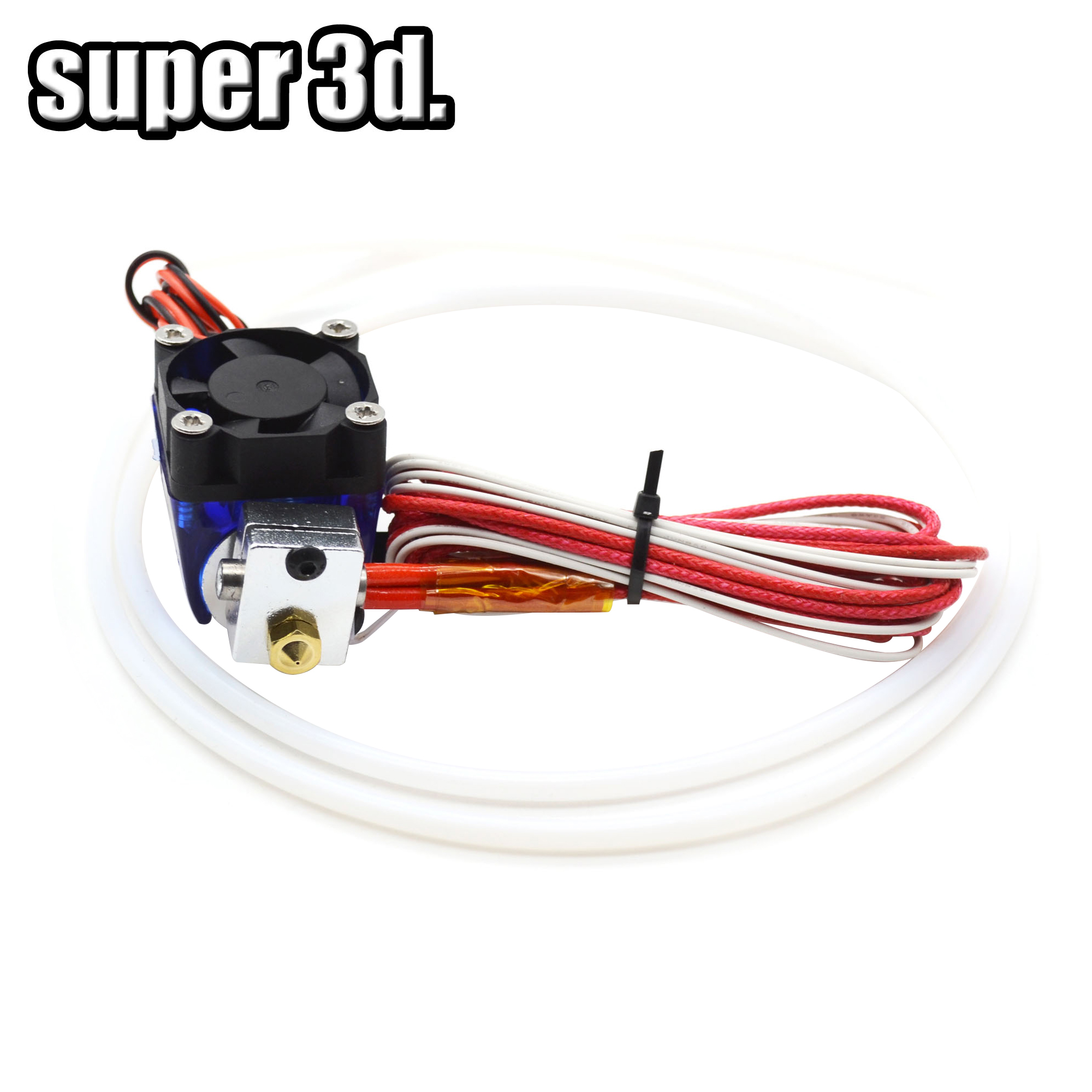 3D Printer V6 12V/24V Remote Bowden Print J-head Hotend Extruder 1meter Teflon Tube And Cooling Fan Bracket For 1.75mm E3d