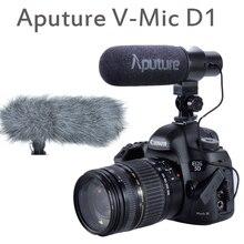Aputure V-Mic D1 direccional condensador escopeta en cámara micrófono para Canon Nikon Sony DSLR DV videocámara
