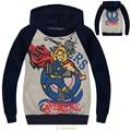 Muchachos de La Venta caliente The Avengers Thor Los Hoodies de Los Niños de manga larga suéter chico Terry Algodón Camisetas Y Tops Niños prendas de Vestir Exteriores-0657