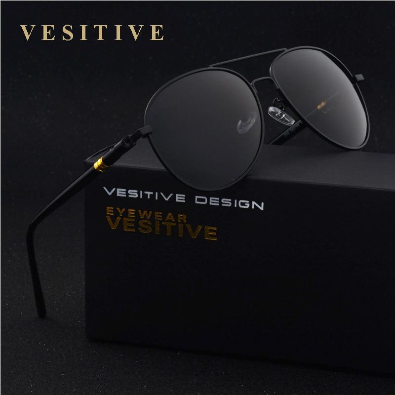VESITIVO Diseñador de la marca Gafas de sol polarizadas Hombres Gafas de sol piloto Polaroid Gafas de sol de conducción masculina Para hombres Gafas de sol Gafas