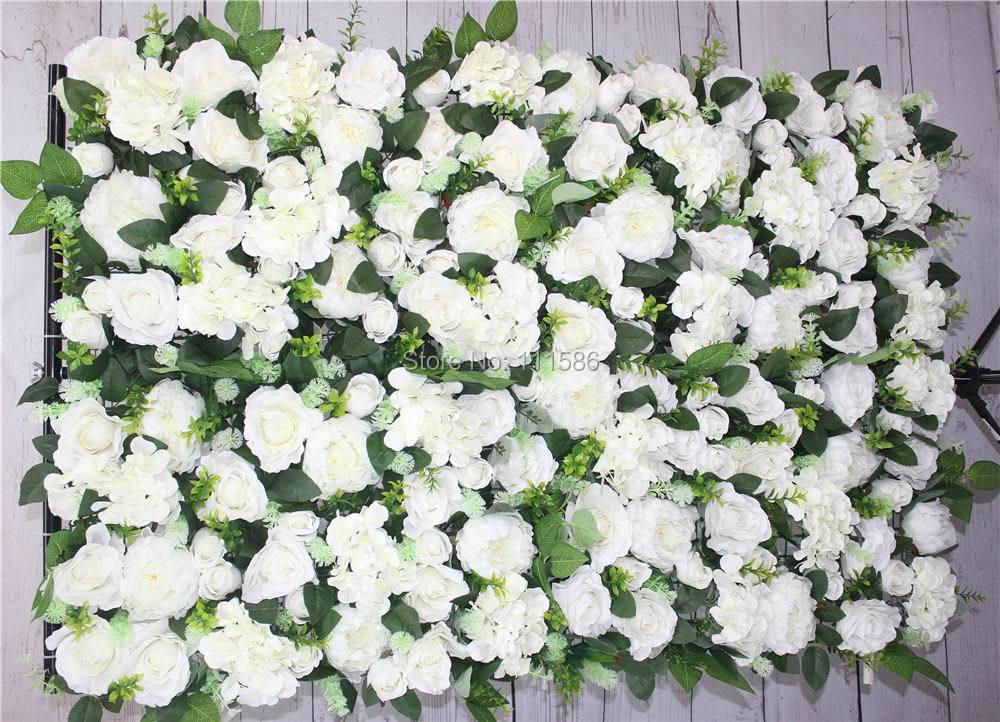 SPR 10pcs / lot 인공 실크 장미 꽃 벽 결혼식 배경 배열 장식 꽃 웨딩 센터 피스