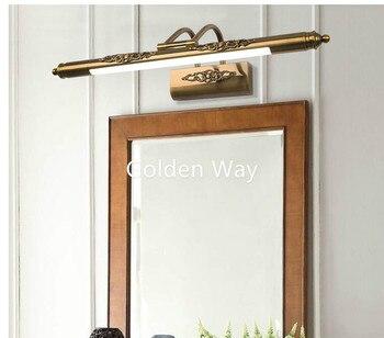 Free Shipping 110v-240v 56cm/65cm/81cm Luxury Bathroom Mirror Lamp Waterproof Retro Bronze Cabinet Vanity Mirror Light Wall Lamp