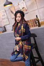 Women Winter Tartan Scarf Plaid New Designer Unisex Acrylic Basic Shawls Women s Scarves Big Size