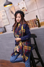 Women Winter Tartan Scarf Plaid New Designer Unisex Acrylic Basic Shawls Women's Scarves Big Size