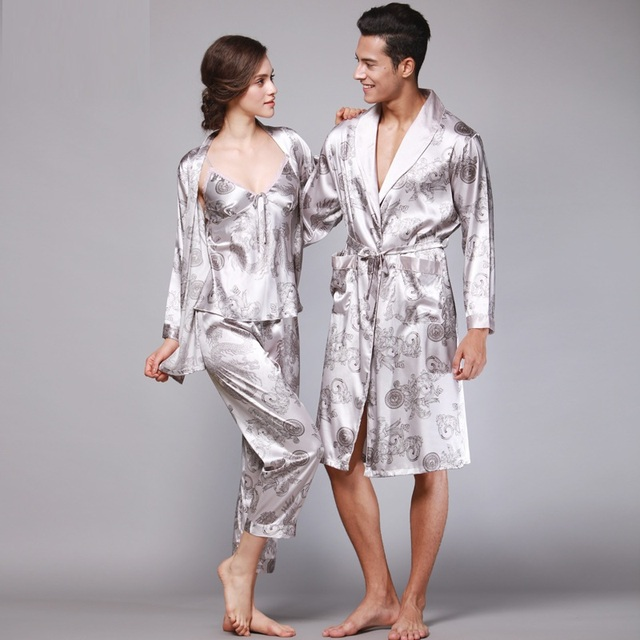 84c6541ab7a Summer Women Pajamas Sexy Couple Pajamas Set Men Women Long Sleeve  Sleepwear Lover Night Suits Lovers Sleeping Clothes Sets Y83