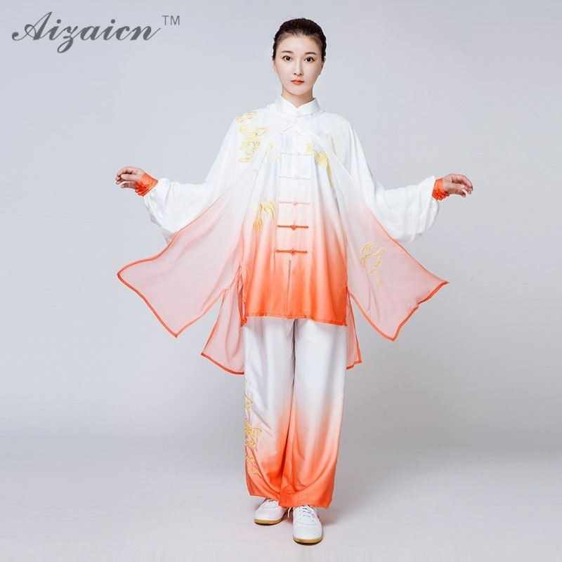 9a13b5547 Traditional Chinese Kung Fu Suit Taijiquan Uniform Taiji Clothing For Women  Woman Long Sleeves Tai Chi