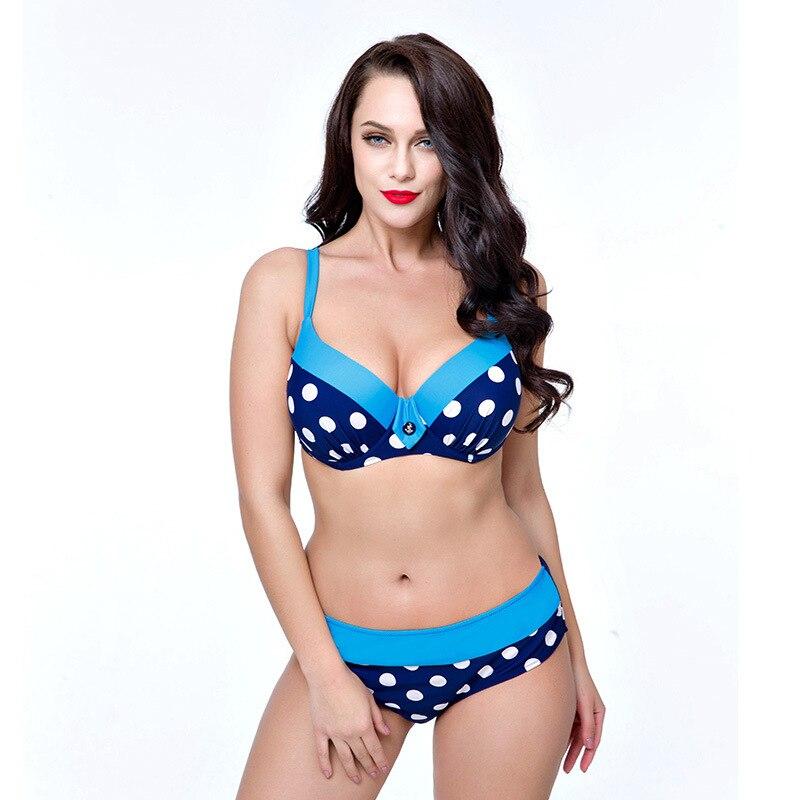 2017 Bikini Plus Size Bikini Sexy Push Up Biquini Women Swimwear Large Size Swimsuit Bathing Suit Monokini Push Up Bikini Set