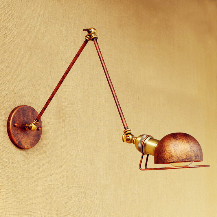 Retro Loft Industrial Vintage Wall Lamp With Swing Long Arm Light LED Stair Wall Lights Fixtures Wall Sconce Appliques Murales swing long arm wall light rustic retro loft style industrial wall lamp vintage wandlamp edison wall sconces appliques murales