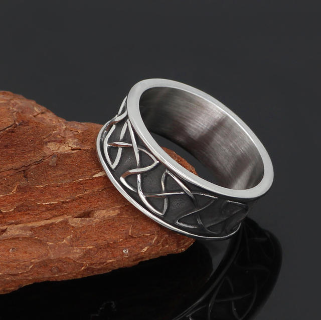 CELTIC AMULET STAINLESS STEEL RING