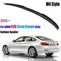 Para BMW F36 Carbono Spoiler Traseiro Estilo M4 Série 4 4 Portas Gran Coupe Saqueador De Carbono 2014 2015 2016-UP 420i 420d 428i 435i