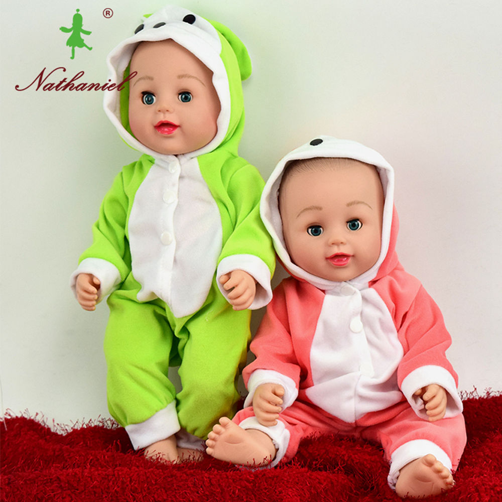 40cm frumos copil de siliciu renăscut feisty păpușă jucării - Păpuși și jucării umplute